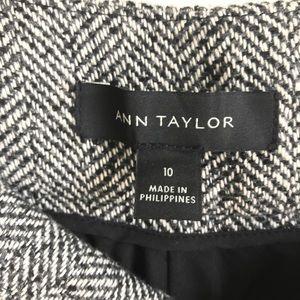 Ann Taylor Pants - Ann Taylor tweed wide leg trousers pants size 10